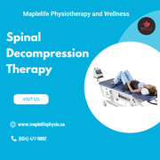 Spinal Decompression Therapy available at maplelifephysio